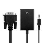 Unotec Adaptador VGA com Audio para HDMI