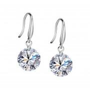 925 Sterling Silver Crystal 8mm Earrings Ear Stud Dama Chica Regalo De Moda