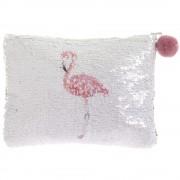 Simogatós Flitteres Nagy Neszesszer- Leonardo Kollekció- Flamingó / Rózsaszín