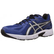 Asics Men's Gel Patriot Blue, Silver and Black Mesh Running Shoes - 8 UK