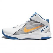 Nike Men White & Grey The Air Overplay IX Basketball Shoes (7 UK/India)