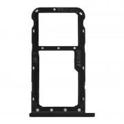 Avizar Bandeja de Substituição de Cartão Nano SIM Preta Metálica para Huawei P20 Lite