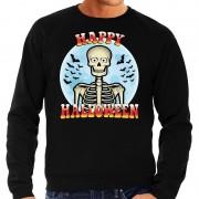 Bellatio Decorations Happy Halloween skelet verkleed sweater zwart voor heren
