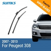 """SUMKS Wiper Blades for Peugeot 308 30""""& 26"""" Fit push button Arms 2007 2008 2009 2010 2011 2012 2013"""