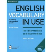 English Vocabulary in Use Pre-Intermediate and Intermediate Book with Answers and Enhanced eBook: Vocabulary Reference and Practice, Hardcover