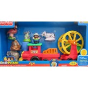 Fisher-Price Little People ANIMAL SOUNDS ZOO TRAIN Playset w SOUNDS & 3 Extra ZOO TALKER ANIMALS! (2012 Mattel...