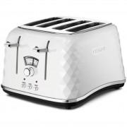 DeLonghi Brillante 4 Slice Toaster - Ice White