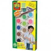 Комплект водни бои 18 цвята, SES, 080722