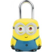 Zahuu Minion Blue-Yellow Luggage Lock Safety Lock(Yellow)