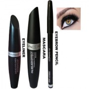 Liquid Eyeliner Mascara Eyebrow Pencil Pack of 3