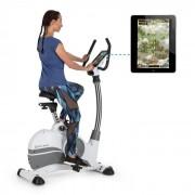 Capital Sports Arcadion Vélo d'appartement fitness Bluetooth USB - blanc