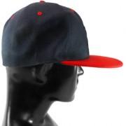 Black Plain Cotton Caps 08 A