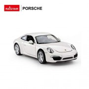 Rastar 1:24 Porsche 911 with Opening Doors and Detailed Interior and Exterior, White, TOYSHINE - 74