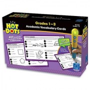 Educational Insights Hot Dots Academic Vocabulary Card Set- Grades 1-3
