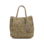 【63%OFF】タッセル カゴ トートバッグ ソープストーンマルチ 旅行用品 > その他
