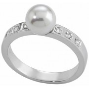 Majorica Stříbrný prsten s perlou a kamínky 12563.01.2.913.010.1 59 mm