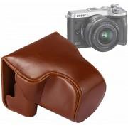 Full Body Camera PU lederen tas tas met riem voor Canon EOS M6 (bruin)