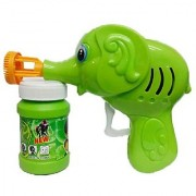 SEJM Green Toon Hand Pressing Bubble Making Toy Gun (Color and Design May Vary a
