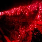 Instalatie Craciun Exterior 5x0.6m 180LED Rosie Franjuri Fir Alb CL