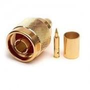 MaxLink 03-NM-01, VF konektor N male gilded for H155, RF240