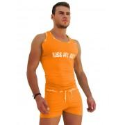 Icker Sea Logo Trim Kiss My Ass Tank Top T Shirt Orange COI-14-ORANGE-09