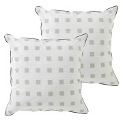 Pair of Hadley White Euro Pillowcases by Bianca