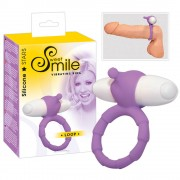 SMILE Loop - vibrációs péniszgyűrű (lila)