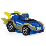Macheta metalica Paw Patrol - Chase super erou cu masina de politie, True Metal