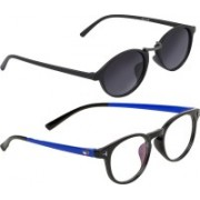 Vast Round, Spectacle Sunglasses(Grey, Clear)