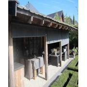 TISSNET Récupérateur d'eau Kit Tonneau Vino 250L brun