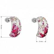 Stříbrné šroubovací náušnice s krystaly Crystals from Swarovski®, Sweet Love