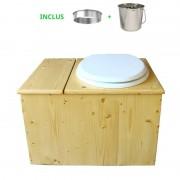 Toilette sèche - La Bac blanche Inox huilée