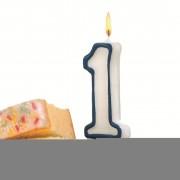 Lumanare aniversara, cifra ''1'', HERLITZ