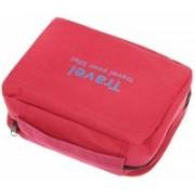 ShoppoStreet Waterproof Travel Your Life Cosmetic Toiletries Bag Make Up Organizer Travel Toiletry Kit(Red)