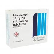 Sanofi Spa Mucosolvan 15 Mg/2Ml Soluzione Da Nebulizzare 6 Fiale 2 Ml