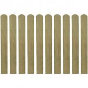 vidaXL Scândură de gard din lemn tratat 80 cm, 10 buc.