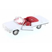 Welly 1963 Chevy Impala Convertible, White w/Red - 22434WWT 1/24 Scale Diecast Model Toy Car