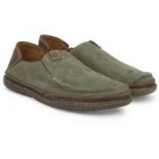 Clarks Trapell Form Olive Nubuck Boat Shoes For Men(Olive)