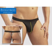 Svenjoyment Back Stripe G String Underwear Black 2110210