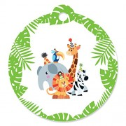 Jungle Party Animals - Safari Zoo Animal Birthday Party or Baby Shower Favor Gift Tags (Set of 20)