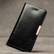 Кралска серия калъф от естествена кожа за iPhone 6 Plus (5.5) - черен
