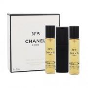 Chanel No.5 3x 20 ml eau de toilette Впръскване със завъртане 20 ml за жени