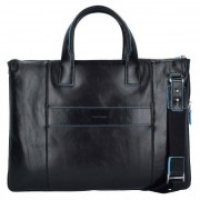 Piquadro Blue Square Business Tasche Leder 42 cm Laptopfach schwarz