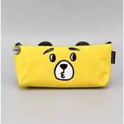 HOMIES INTERNATIONAL Brings 1 Piece Imported Multi-Purpose FABRIC Pen,Pencil,Stationery Zipper Pouch for School Kids & Office.YELLOW