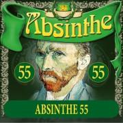 Absintetikett för Absint 55 90 x 90 mm