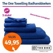 The One Towelling The One Badhanddoek Deluxe Voordeelpakket 70x140 550 gram Taupe (5 stuks)