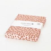 Studio ditte Hoeslaken flow - roze / roestbruin (200x90cm)
