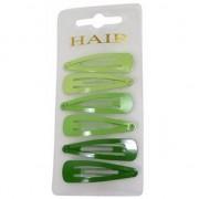 Geen Haarspeldjes 6 cm groene tinten