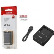 Canon LP-E6 Battery + LC-E6 CHARGER for Canon 70D 60D 7D 6D 5D Mark II-III
