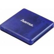Cititor de carduri Hama USB 2.0 SD microSD CF Albastru